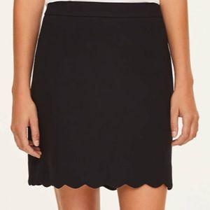Loft Scalloped skirt